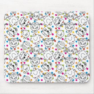 Herr Men u. kleines Regenbogen-Tupfen-Muster Mousepads
