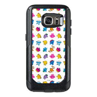 Herr Men u. kleines tanzendes Neonmuster OtterBox Samsung Galaxy S7 Hülle