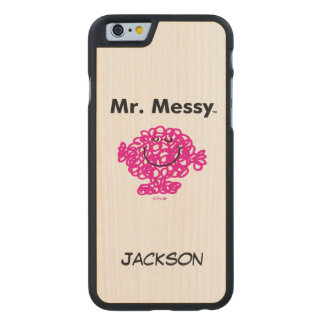 Herr Messy Is Cute Herr-Men |, aber unordentliches Carved® iPhone 6 Hülle Ahorn
