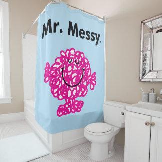 Herr Messy Is Cute Herr-Men  , aber unordentliches Duschvorhang