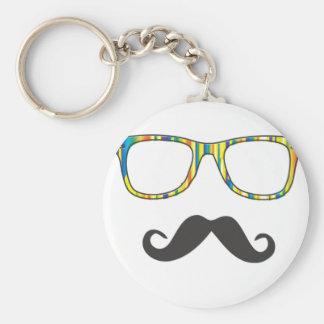 Herr Moustache Hipster Schlüsselanhänger