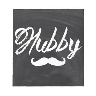 Herr Mustache Groom Honeymoon Hubby Notizblock