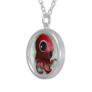 Herr Octopus Halskette Mit Rundem Anhänger