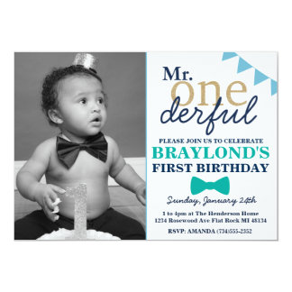 Herr Onderful Birthday Invitation Karte