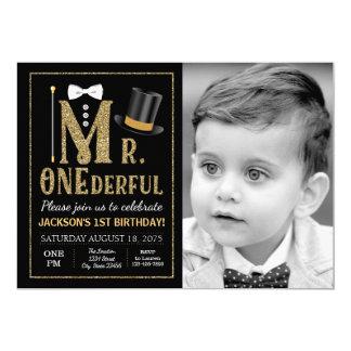 Herr ONEderful Foto Birthday Invitation 12,7 X 17,8 Cm Einladungskarte
