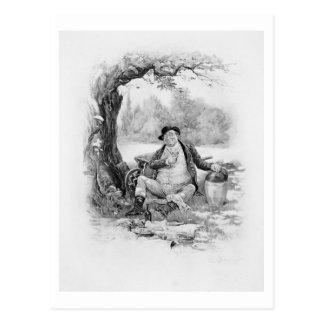 Herr Pickwick, von 'Charles Dickens: Ein Klatsch Postkarte