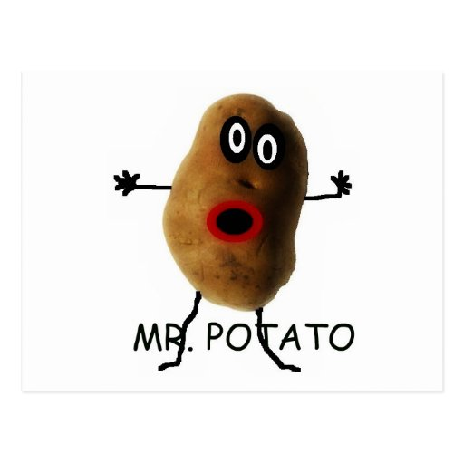 Herr Potato Cartoon Postkarten