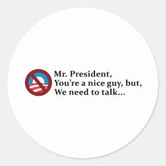Herr Präsident, müssen wir sprechen… Runde Aufkleber