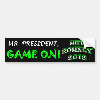 Herr Präsident, SPIEL AN! - MITT ROMNEY 2012 Autoaufkleber