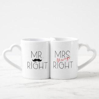 Herr Right und Set Frau-Always Right Lovers Mug Liebestasse