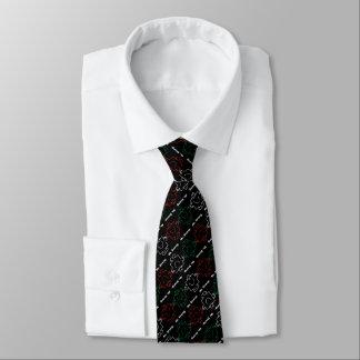 Herr Strong | rotes, weißes u. grünes Muster Krawatte