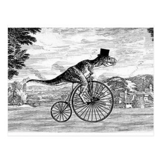 Herr T-Rexs Sonntags-Fahrt Postkarte