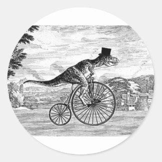Herr T-Rexs Sonntags-Fahrt Runder Aufkleber