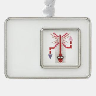 Herr Thermostat Framed Ornament Rahmen-Ornament Silber