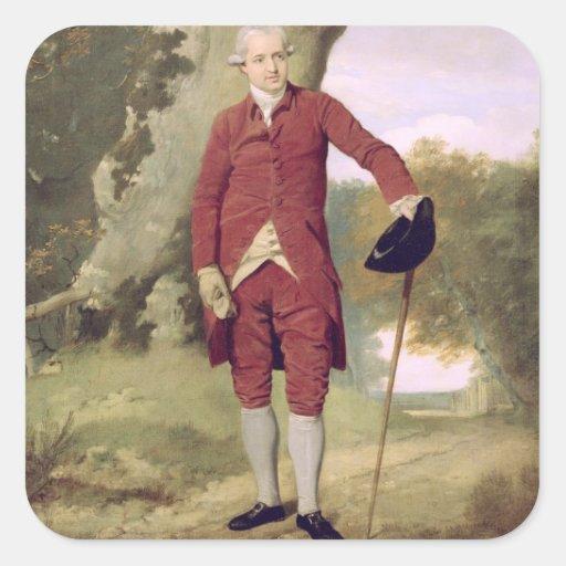 Herr Thrale, c.1770-80 (Öl auf Leinwand) Quadrataufkleber