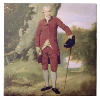 Herr Thrale, c.1770-80 (Öl auf Leinwand) Große Quadratische Fliese