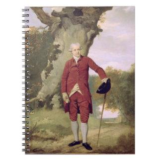 Herr Thrale, c.1770-80 (Öl auf Leinwand) Notizbuch