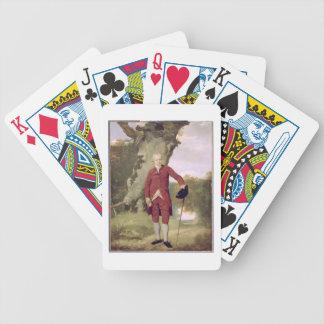 Herr Thrale, c.1770-80 (Öl auf Leinwand) Poker Karten