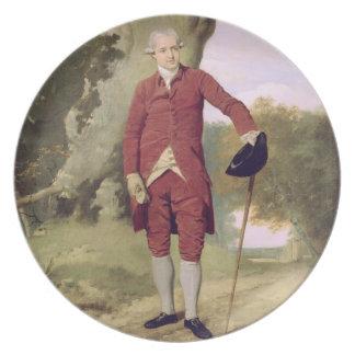 Herr Thrale, c.1770-80 (Öl auf Leinwand) Teller