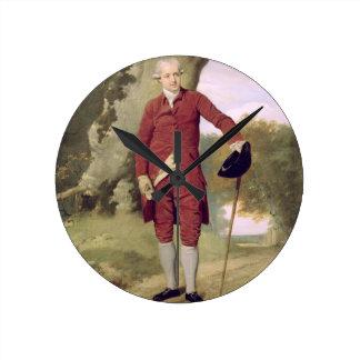 Herr Thrale, c.1770-80 (Öl auf Leinwand) Wanduhr