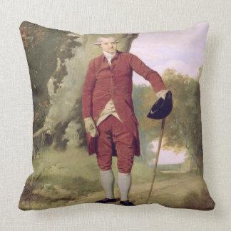 Herr Thrale, c.1770-80 (Öl auf Leinwand) Zierkissen