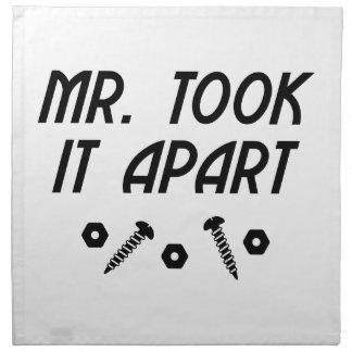 Herr Took It Apart Serviette