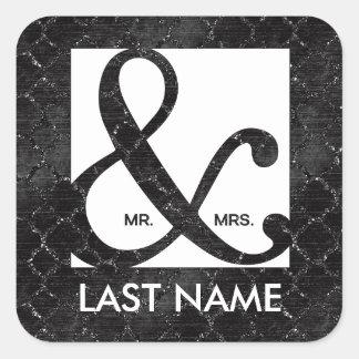 Herr u. Frau Ampersand Black Glitter Sticker