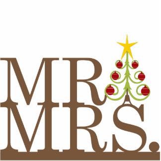 Herr u Frau Christmas Magic Cake Topper Fotostatue