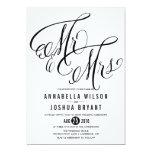 Herr-u. Frau-Elegant Script | Wedding Einladung