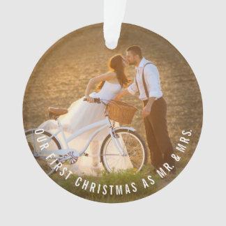 Herr-u. Frau-First Christmas Wedding Foto Ornament