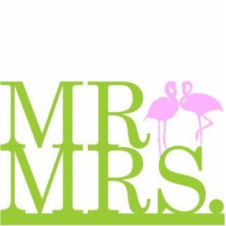 Herr-u. Frau-Flamingo 2 Kuchen-Deckel Fotostatue