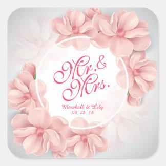 Herr-u. Frau-Floral Watercolor Wedding Sticker