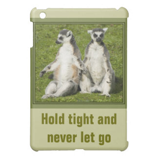 Herr u. Frau Lemur - halten Sie fest und lassen iPad Mini Hülle