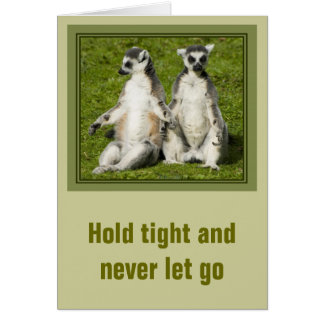 Herr u. Frau Lemur - halten Sie fest und lassen Karte