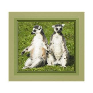 Herr u. Frau Lemur Leinwanddruck