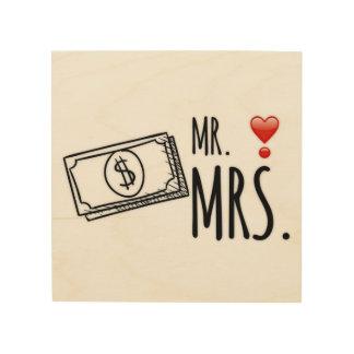 Herr u. Frau Money Holzwanddeko