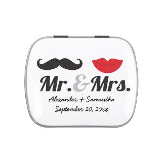 Herr-u. Frau-Mustache Lips Cute Custom Jelly Belly Dosen