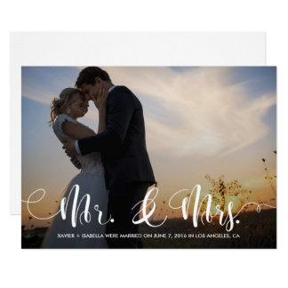 Herr-u. Frau-Overlay   Wedding Mitteilung Karte