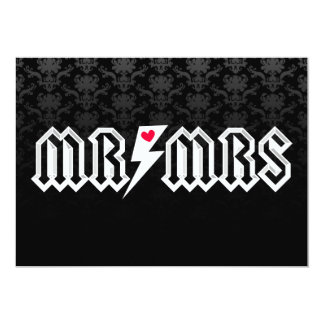 Herr u. Frau Rocker - kundenspezifische Hochzeit Einladungen