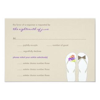Herr-u. Frau-Summer Flip Flops Strand-Hochzeit Karte