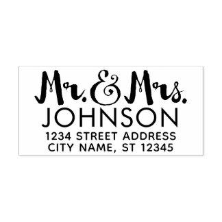 Herr-u. Frau-Wedding Rücksendeadresse - übergeben Permastempel