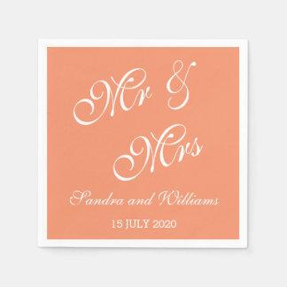 Herr und Frau Calligraphy Script Wedding Serviette