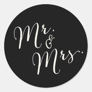 Herr und Frau Calligraphy Script Wedding Stickers