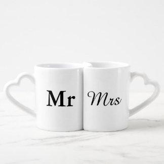 Herr und Frau | elegantes modernes Paartassen