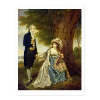 Herr und Frau Fraser, c.1785-90 (Öl auf Leinwand) Postkarte