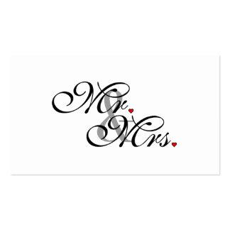 Herr und Frau Husband Wife His Her Weds eben Visitenkarten