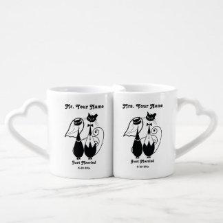 Herr-und Frau-Just Married Personalized Mug Set Liebestassen