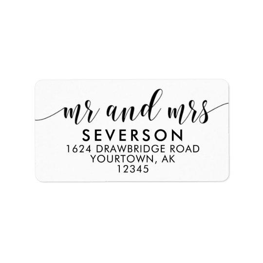 Herr-und Frau-Mailing Adressen-Etiketten Adressetiketten