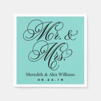 Herr-und Frau-Napkins | Aqua-Robins Ei-Blau Papierserviette