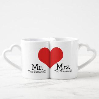 Herr-und Frau-Newly Mittwoch Herz-Hochzeit Liebestassen
